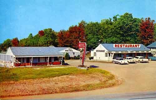 An old Vernelle's Motel postcard
